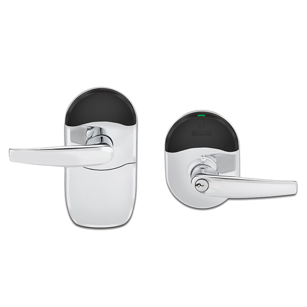 the schlage� nde series wireless lock with engage™ technology is designed  to be easy to install, connect, manage and use  open options connects to  the nde