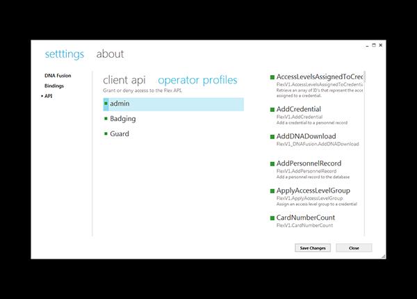Flex API - Open Options